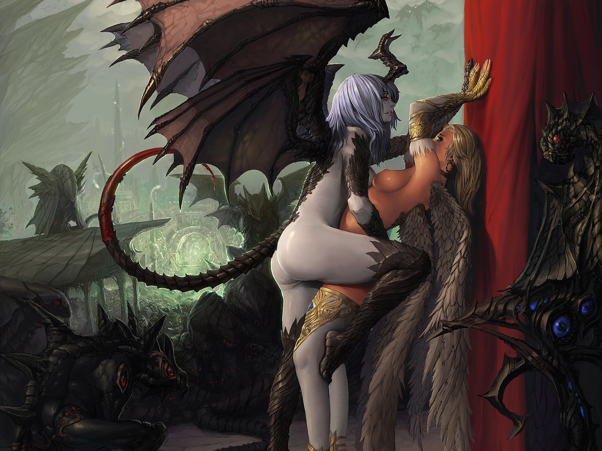 Demon erotic art fucking scene
