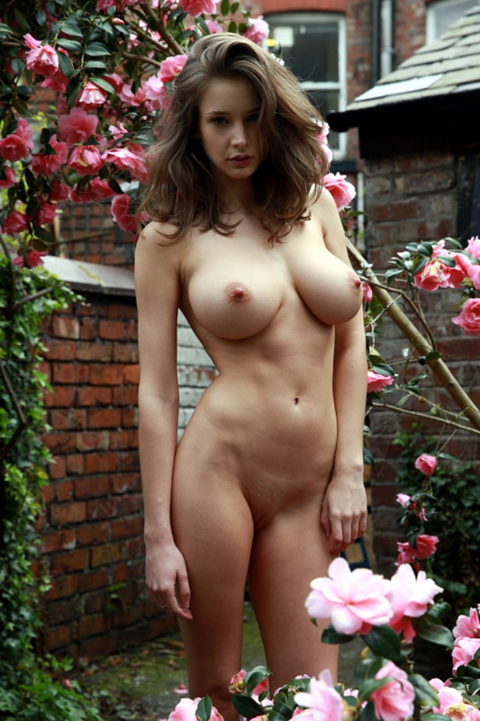 Emily Shaw in the flower garden.jpg