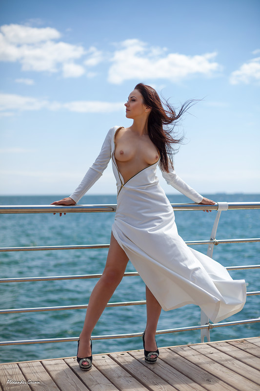 lost her top on the pier.jpg