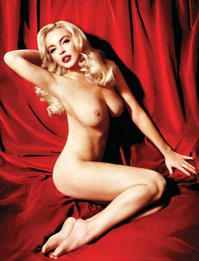 Lindsay Lohan Marilyn Monroe Shooting - Viply