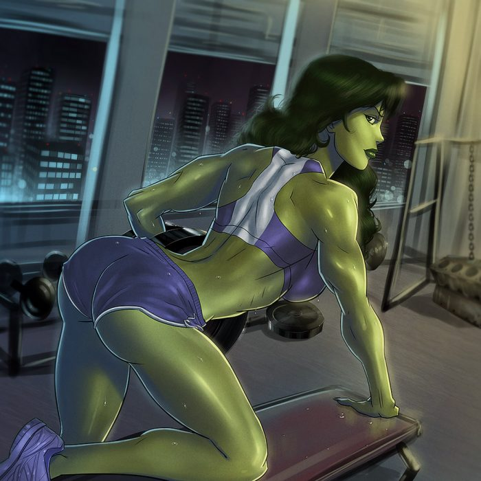 she hulk clothed in the weight room.jpg