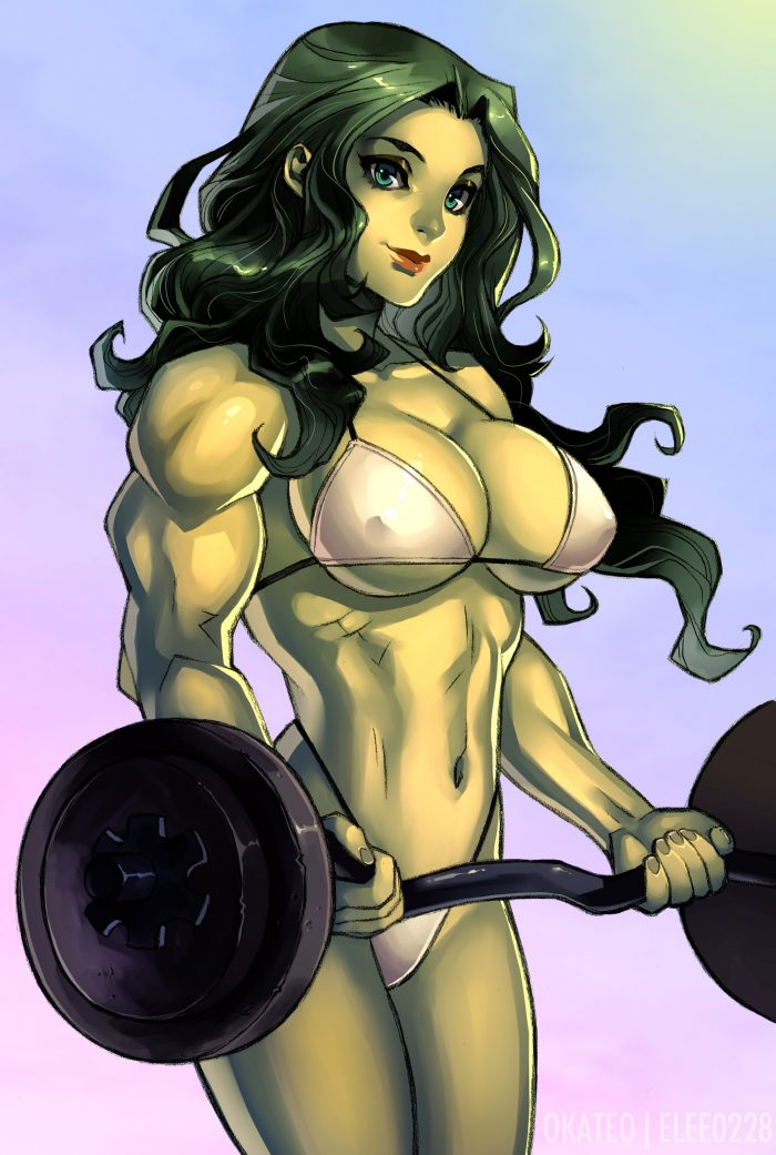 she hulk see through bikin while lifting.jpg