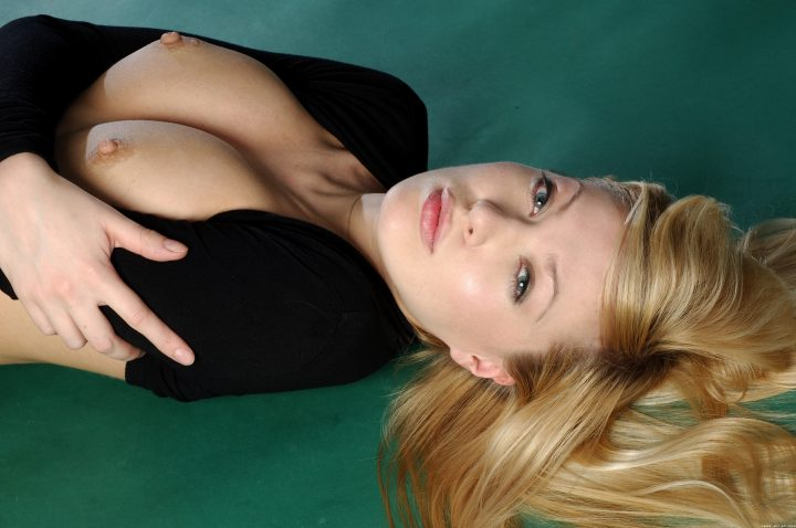 blonde on the green floor.jpg