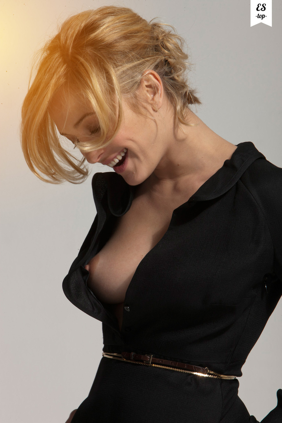 black dress nip slip