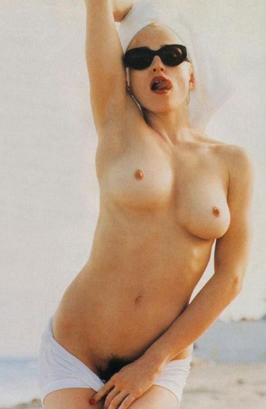 Madonna Topless with an arm up