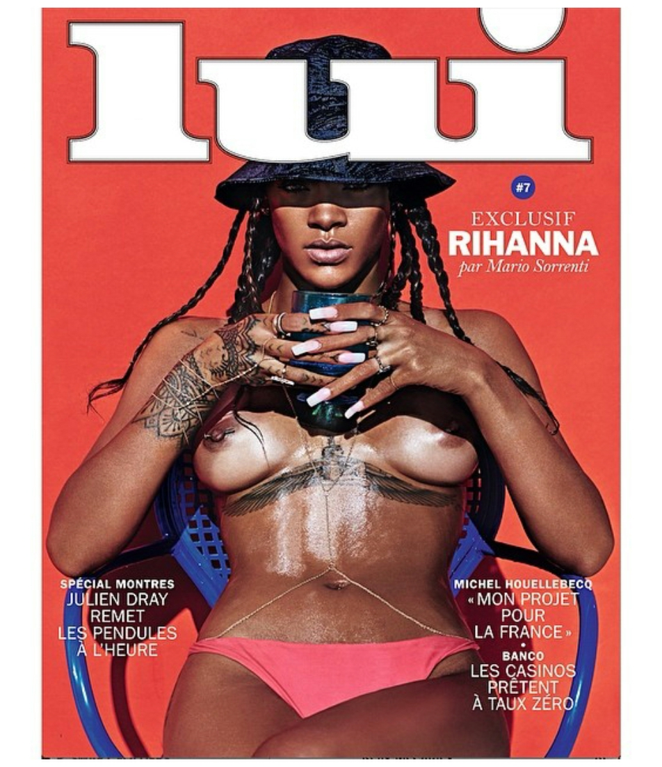 Rihanna on Lui Magazine