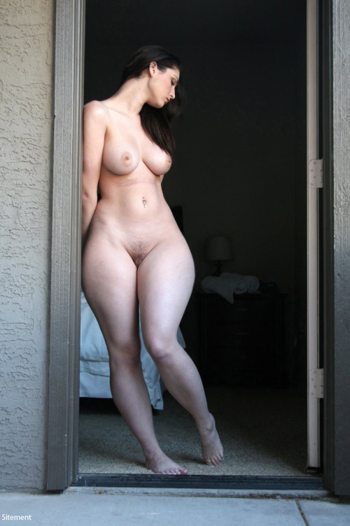nude in doorway