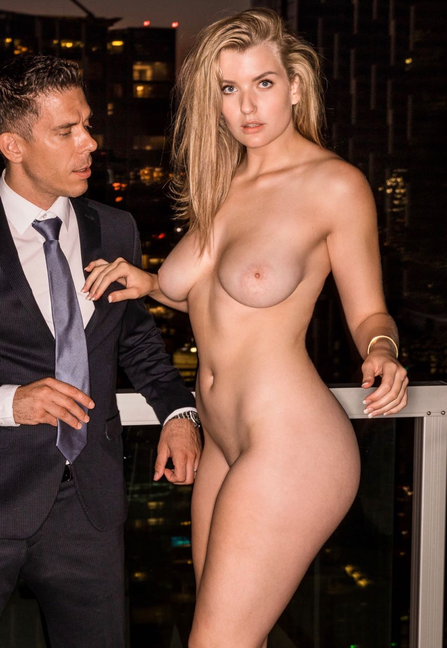 Mia Melano nude with Business Man who's about to get up in her business