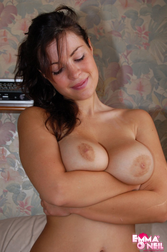 emma checkes out her perfect tits.jpg