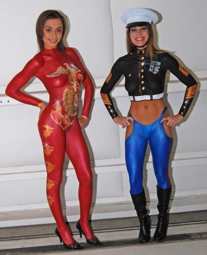 USMC body paint