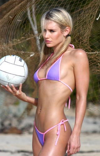 awesome beach volley ball abs
