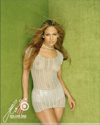 jennifer lopez - see through green
