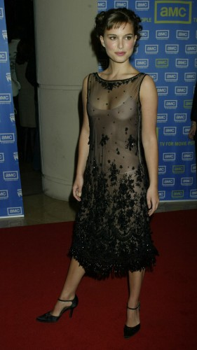 nat port see through dress