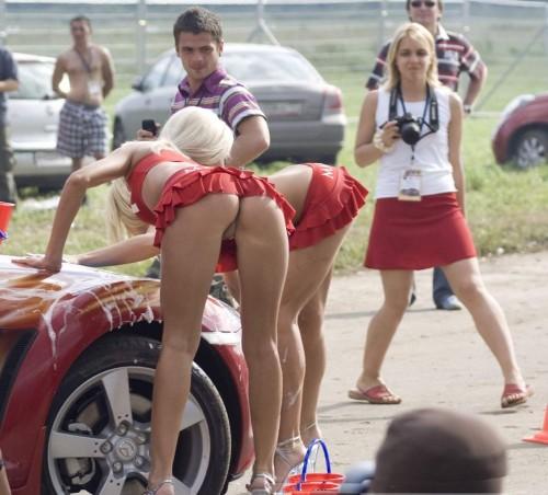 sexy carwashers with awkward photographers