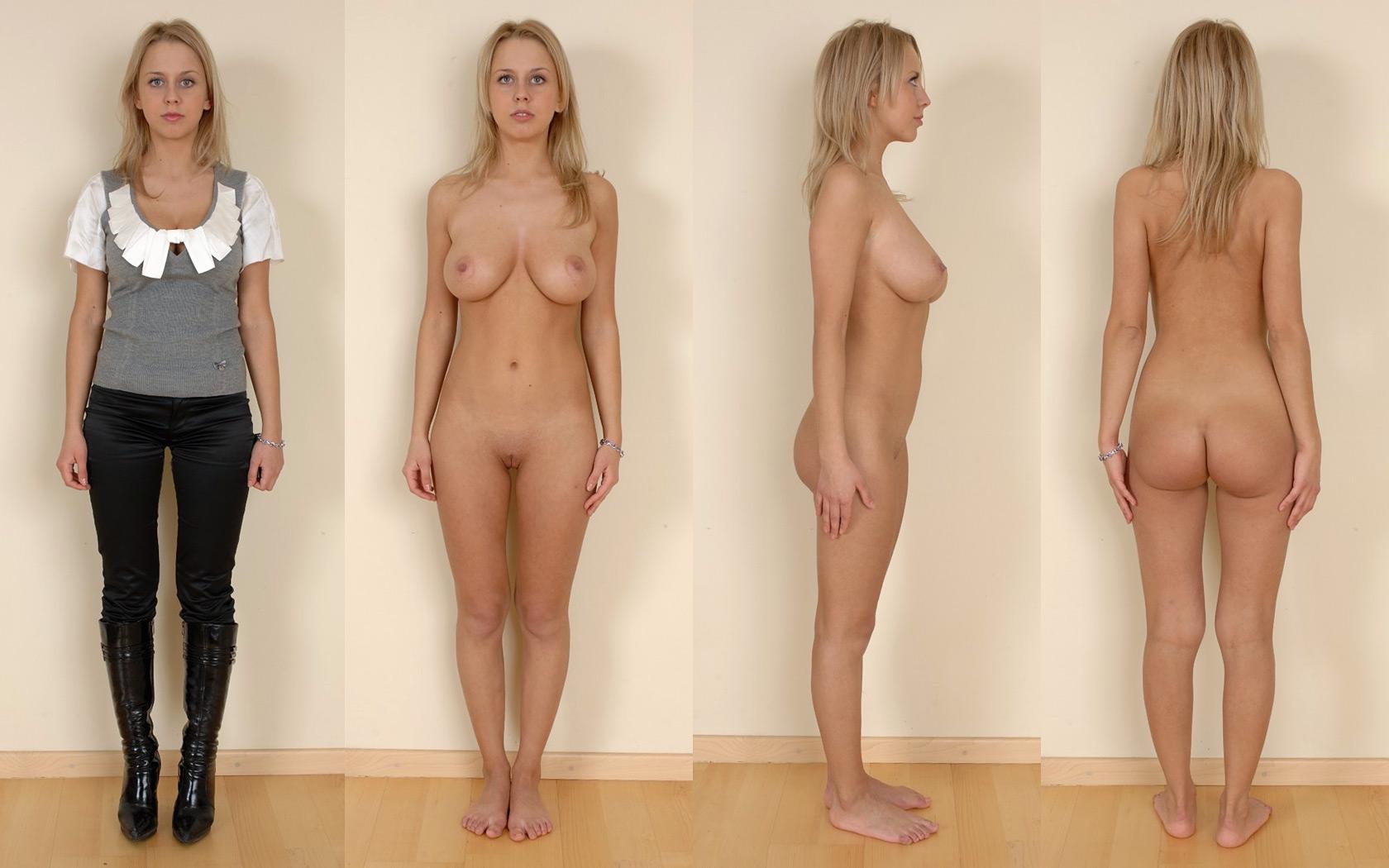 Фото голых и одетых 8 фотография