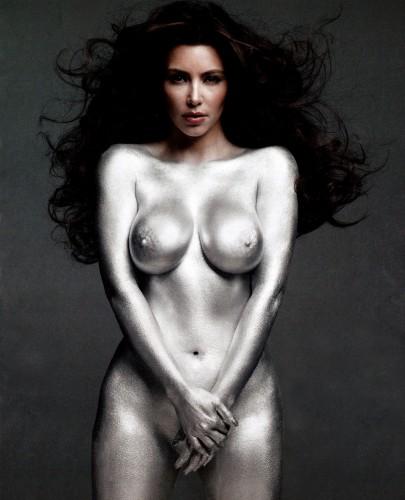kim_kardashian silver nude 1