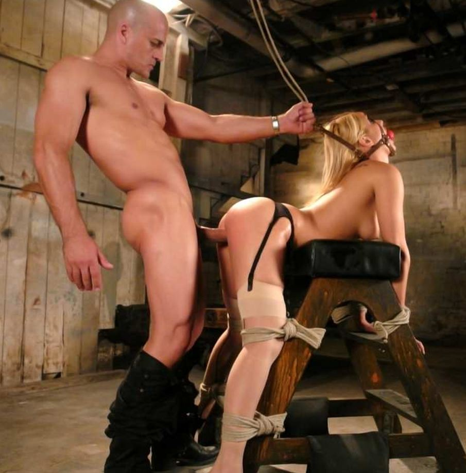 Stacy burke chair tied nipple tease 9