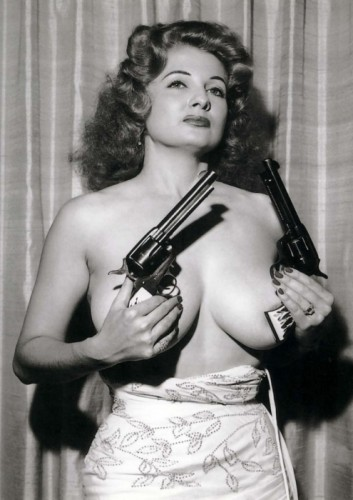 topless pistol gal