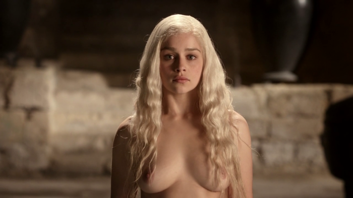 Emilia Clarke nude in game of thrones 1 700x393 Emilia Clarke   game of thrones