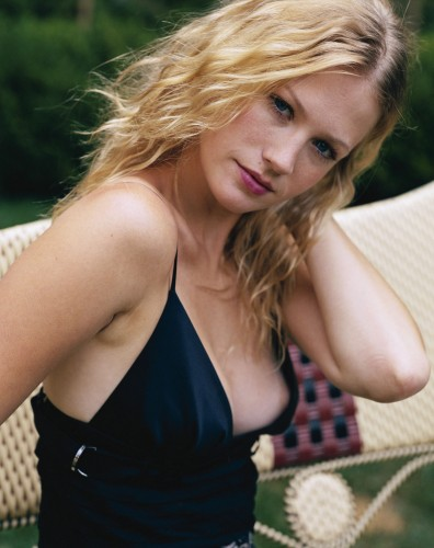 January Jones - nipple slip