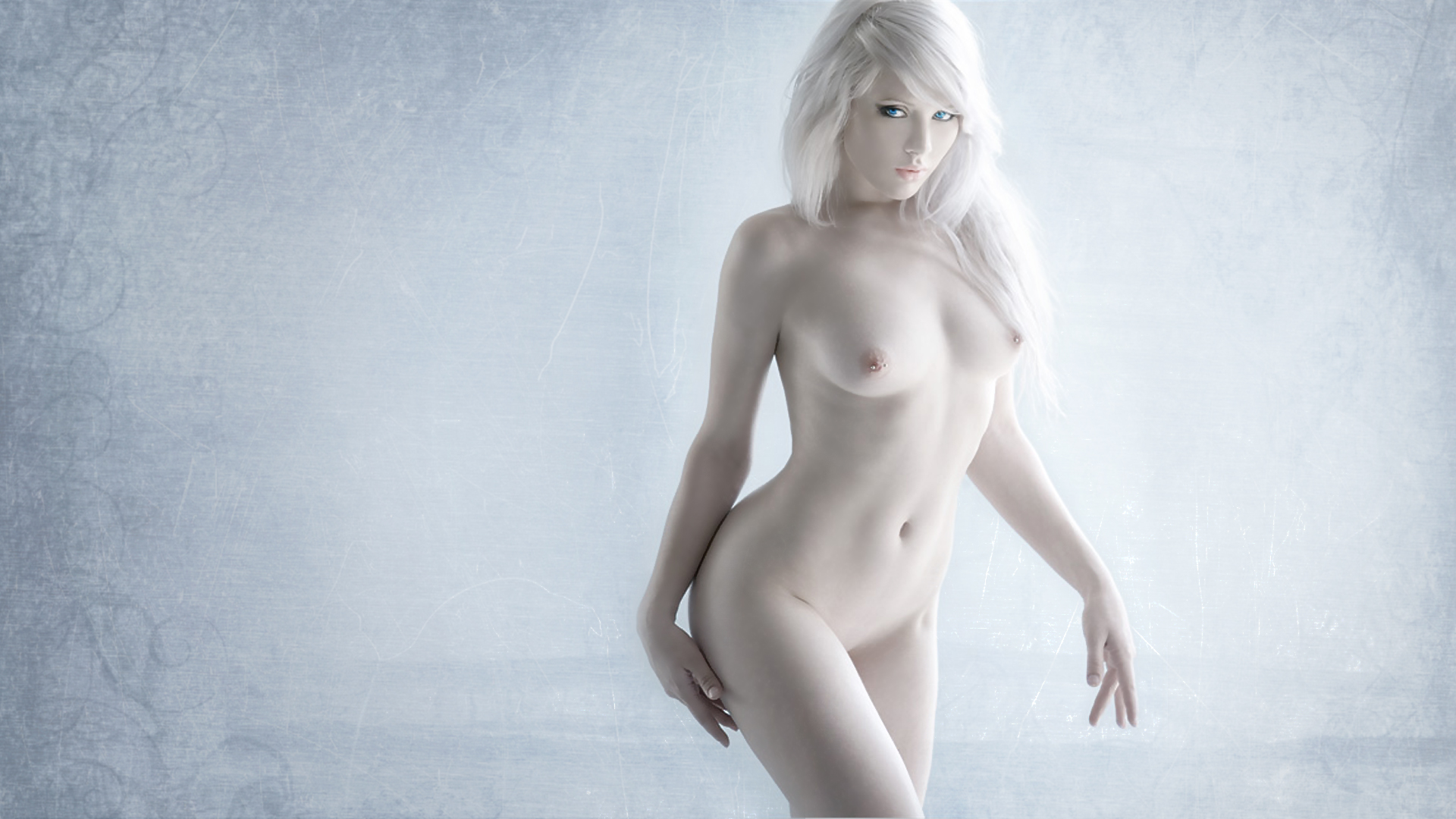 Hot albino woman