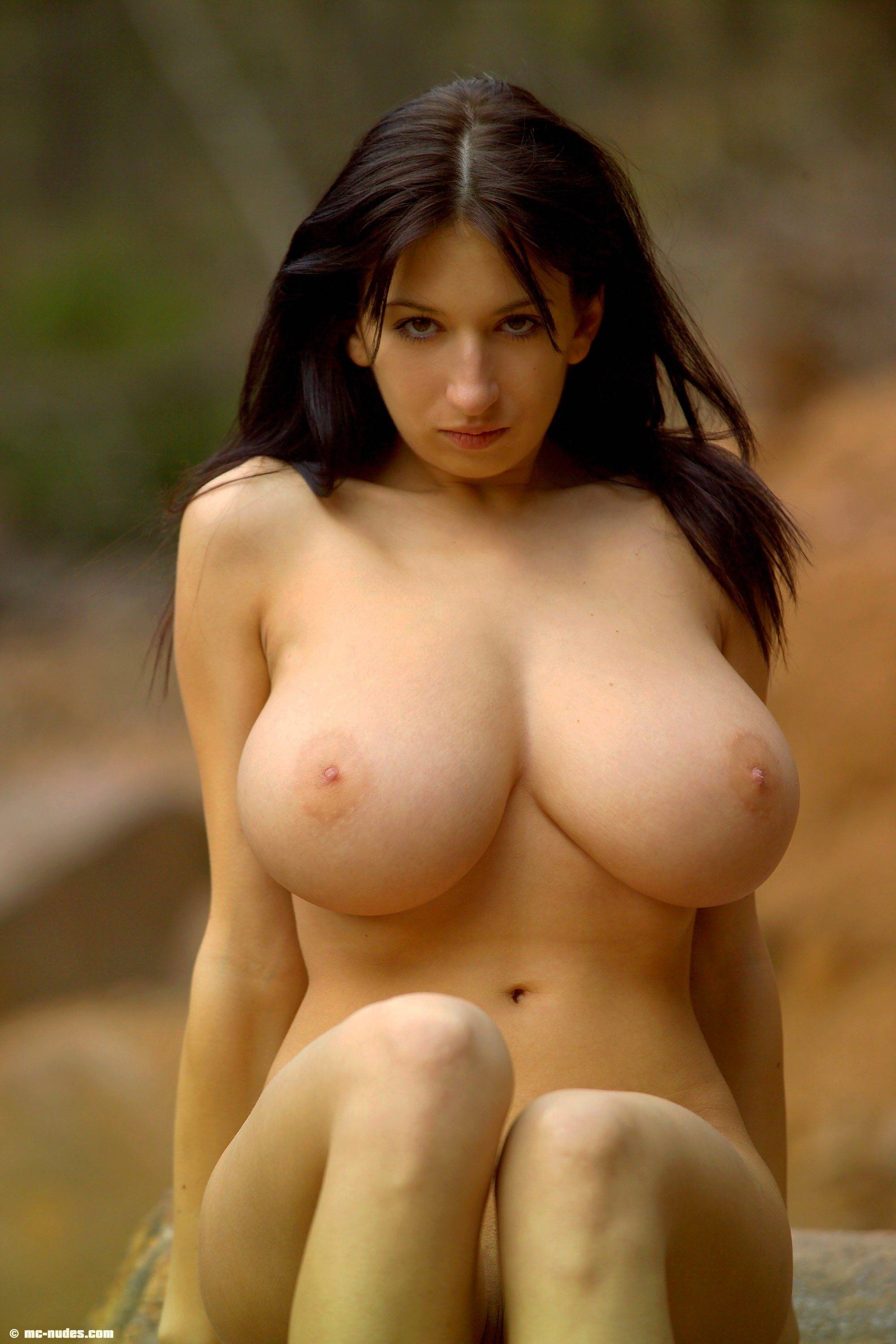 busty babes Curvy outdoors nude