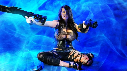 busty weapon bearer