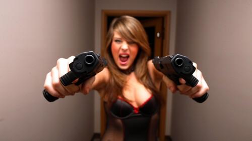 dual pistol holder