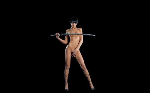 katana woman