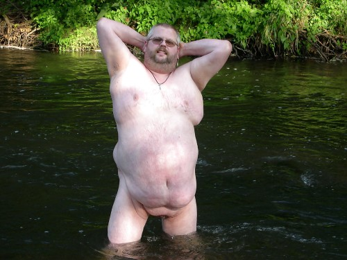 nude river man