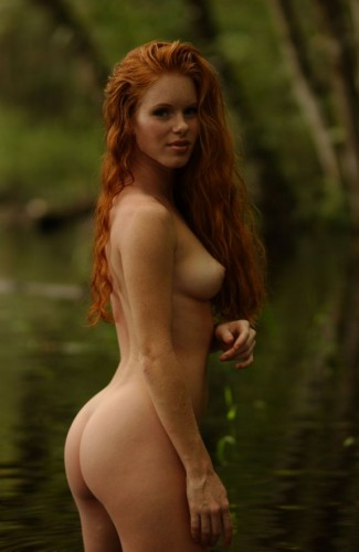red head in water