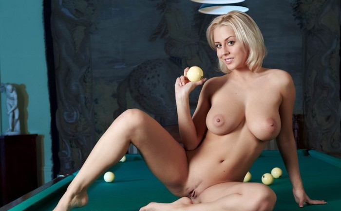 busty girl in a pool hall 17 700x434 pool table hottie