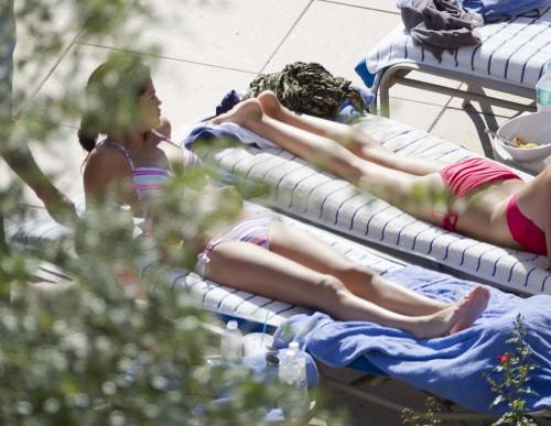 Selena Gomez Bikini Candids Pool Orlando July
