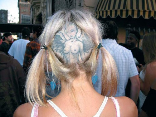 angelic head tattoo
