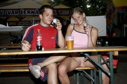 beer upskirt