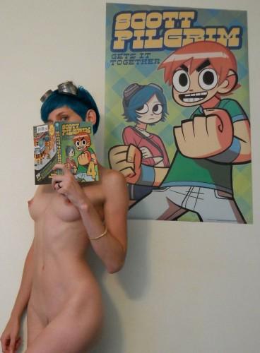 blue haired nude scott pilgrim girl