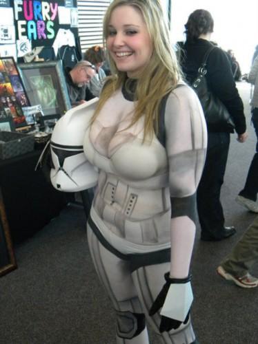 body paint clone trooper