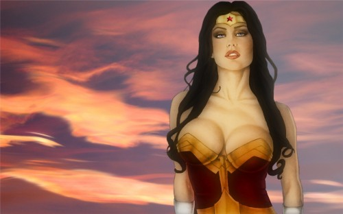 busty wonder woman