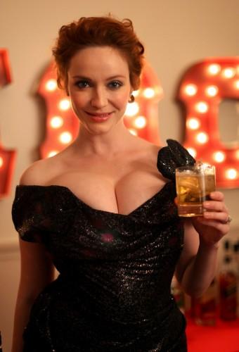 christina hendricks - boobs and liquor 3