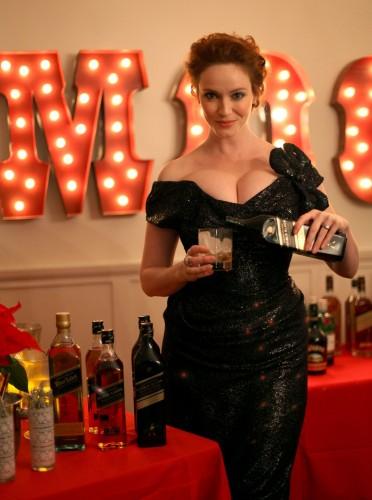 christina hendricks - boobs and liquor 4