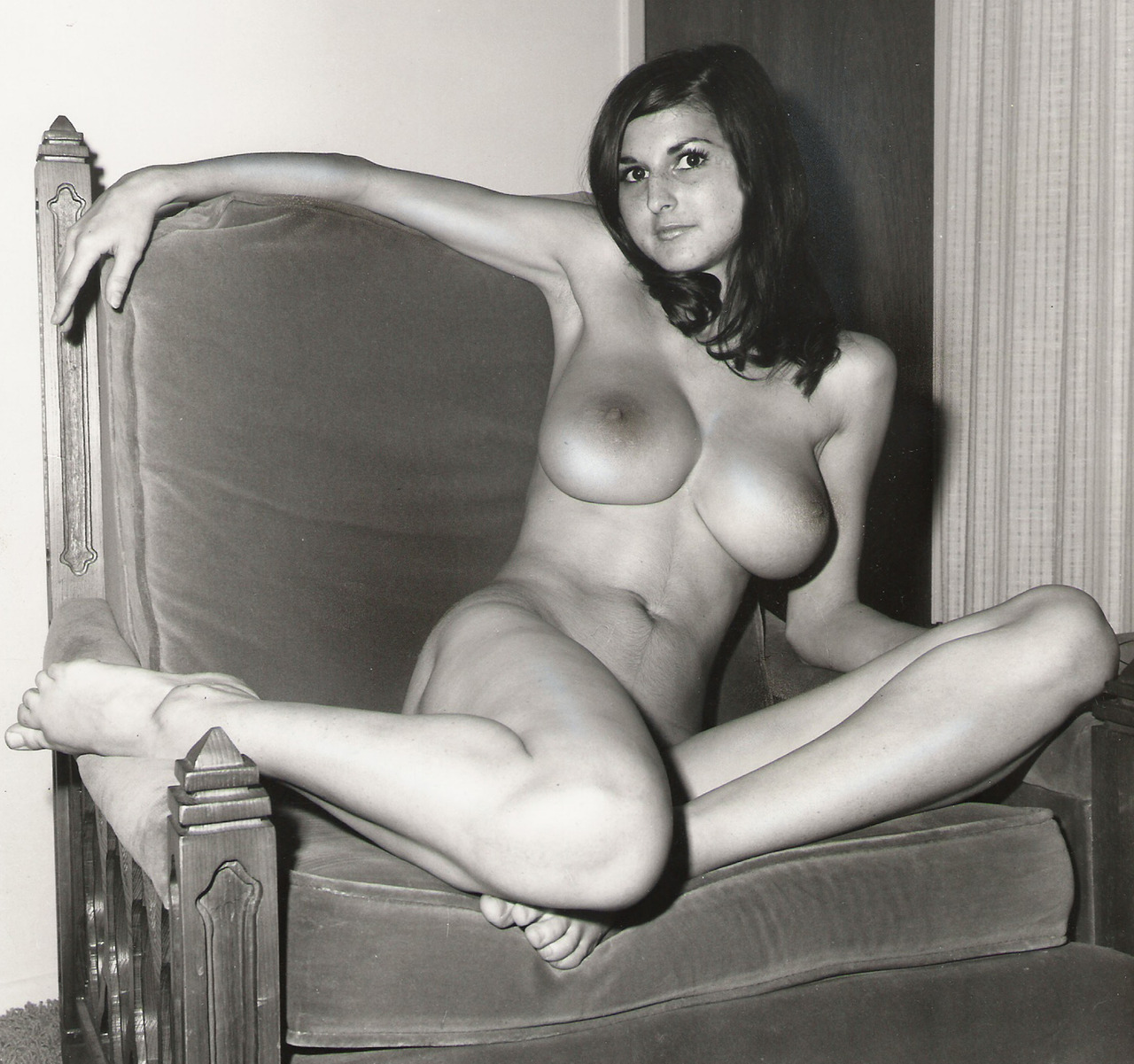 classic nude in classic chair some hairy pussy amateur