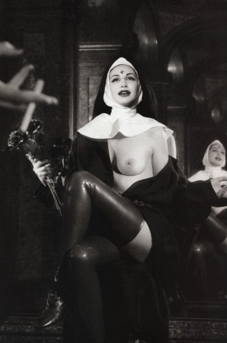 flashing nun