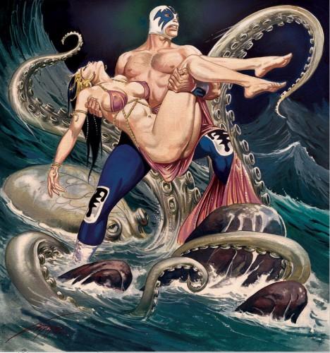 lucha dora vs giant squid