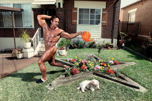 nude gardening