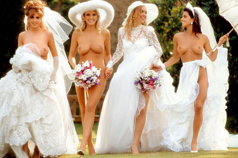 Nude wedding party naked