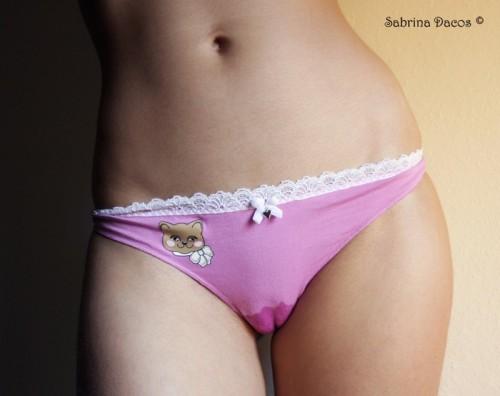 wet pink panties