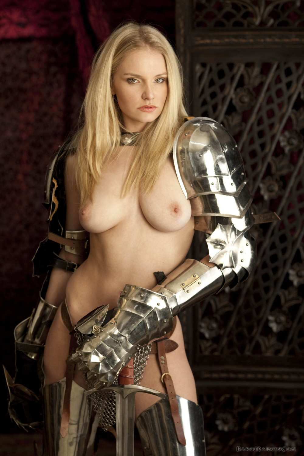 Naked in armor nudes clips