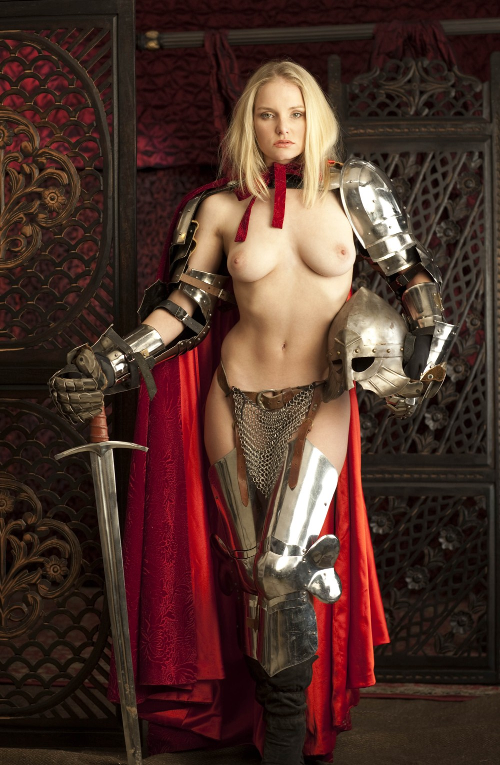 Nude girls in armor exposed picture