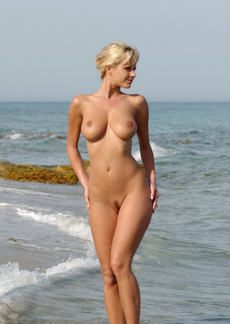 from Rhett young blonde topless on beach