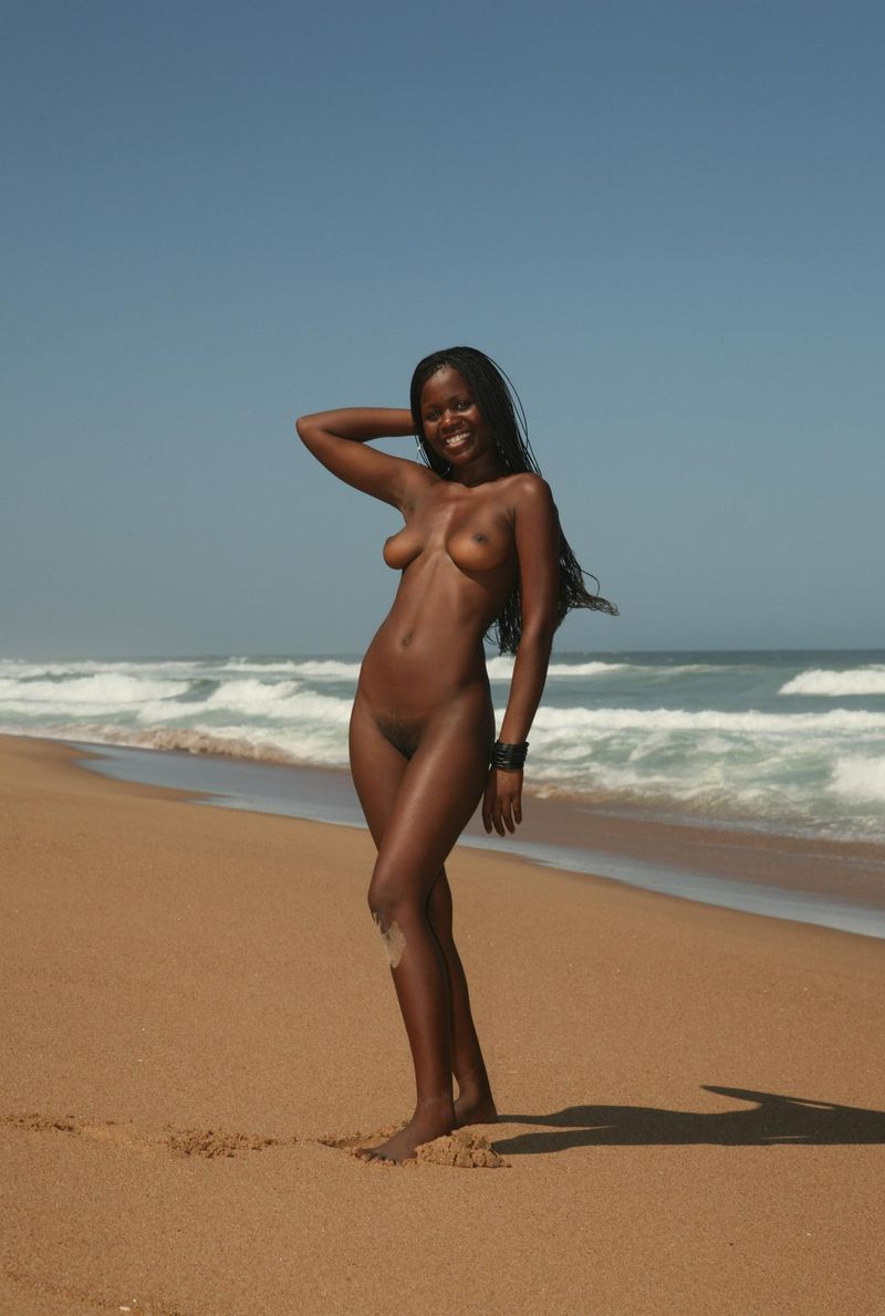 Black nude woman